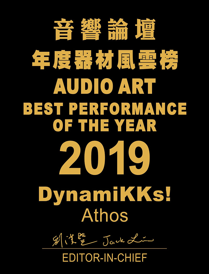 Audio Art BEST PERFORMANCE 2019 Dynamikks Athos